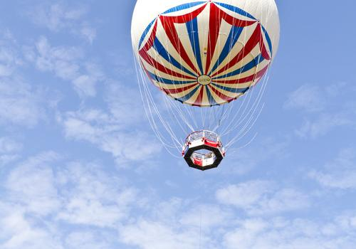 Der Bournemouth Heißluftballon