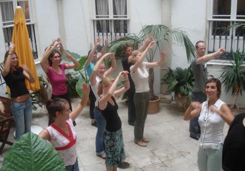 Flamenco mit den Sprachschülern