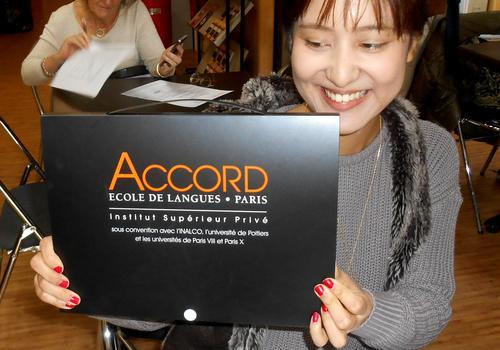 Alle ACCORD Sprachschüler erhalten ein nettes Willkommenspaket