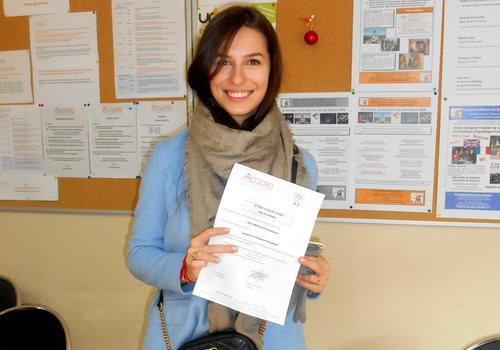 Sprachschüler genießen den Französischunterricht in ACCORD Paris.