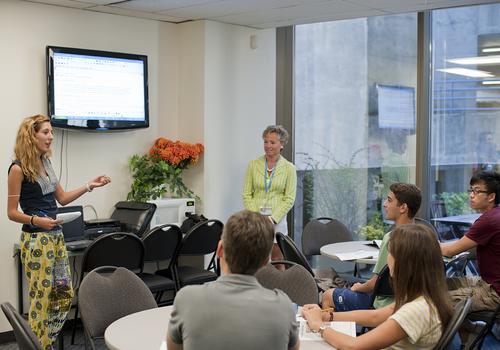 Präsentation im Business-Englischkurs