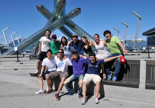 Olympische Fackel in Vancouver