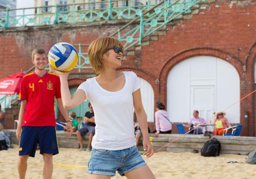 Volleyball am Strand