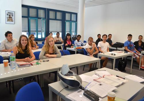 Klassenzimmer mit Sprachschülern